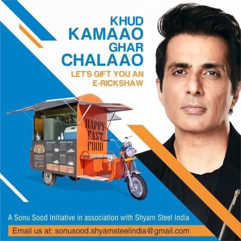 Sonu Sood joins Spice Money to provide E-Rickshaws to those who lost their jobs in this COVID-19 pandemic.