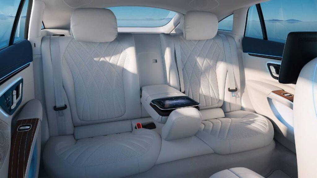 Mercedes EQS rear luxury seats