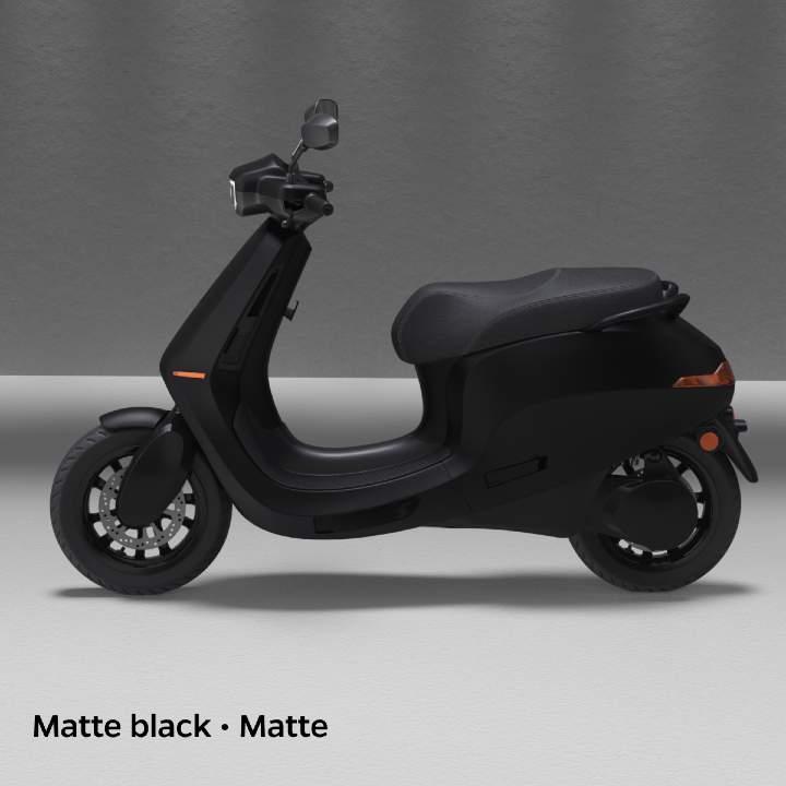 Matte black colour