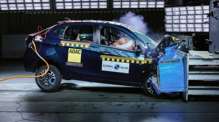 Tata Tigor EV gets 4 stars in GNCAP crash test